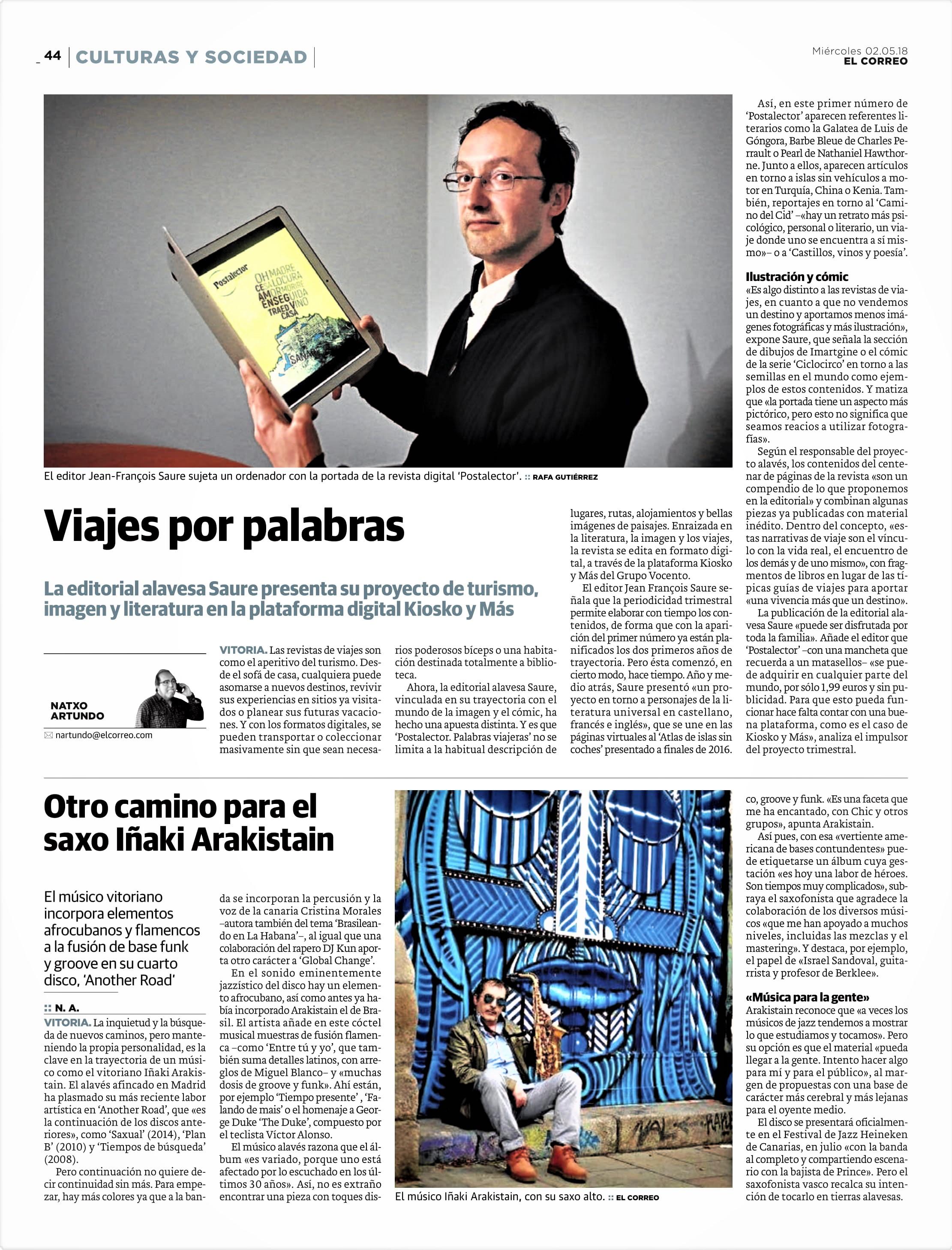 """""""EL CORREO"""" de Álava, País Vasco."""